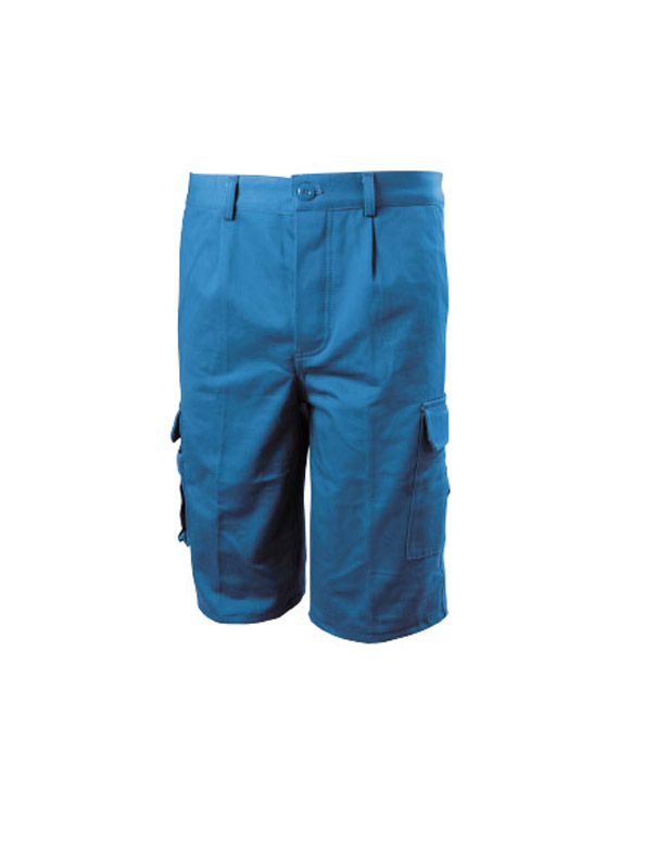Pantalone Estivo Bermuda Cotone Canvas Multitasche Blue-Tech 584