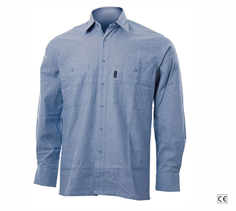 Camicia Manica Lunga Oxford Celeste Blue-Tech 500
