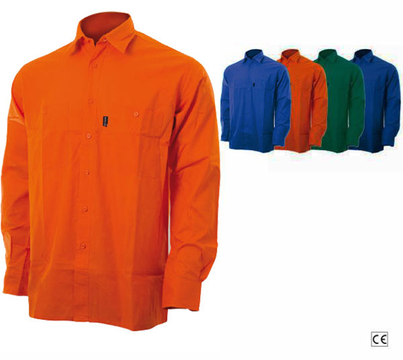 Camicia Tela Blu, Verde, Royal, Arancio Blue-Tech 520