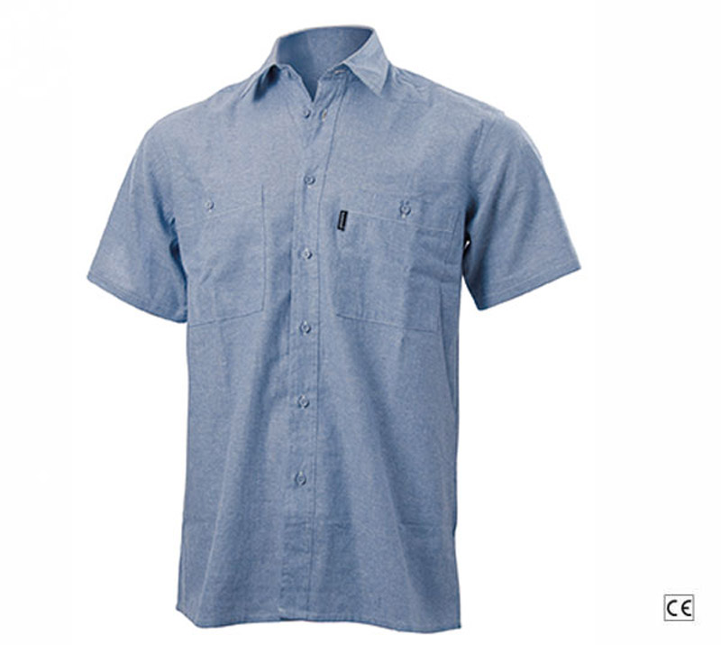 Camicia Manica Corta Oxford Celeste Blue-Tech 550