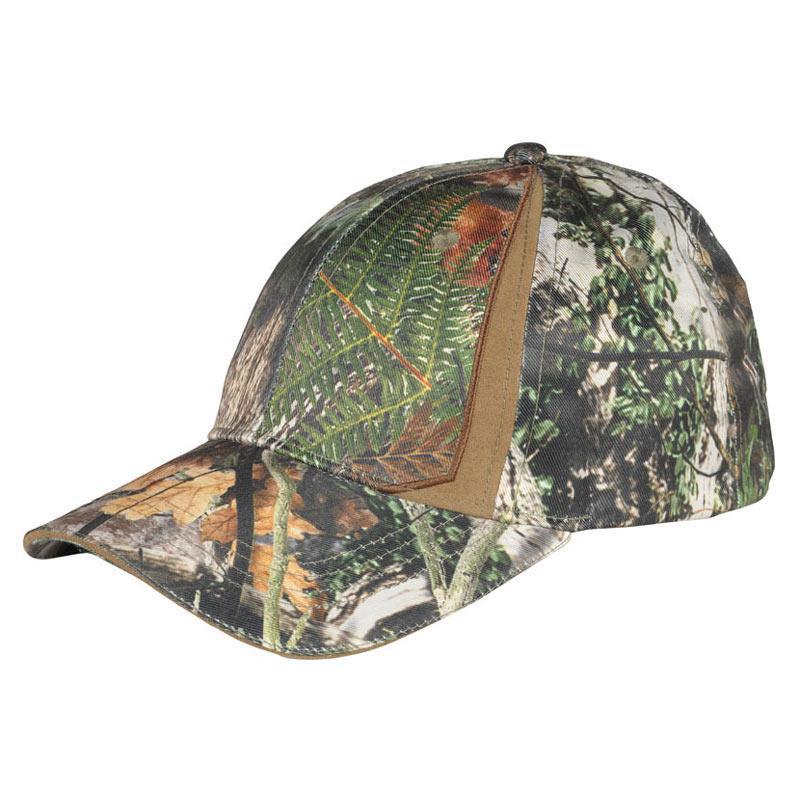 Cappellino con visiera colorazione verde marrone foresta for Cappellino con visiera