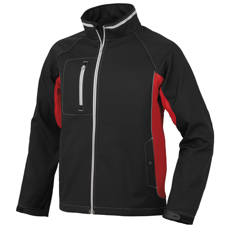 Giacca Bolt In Softshell - Rosso/Nero Issa 04519