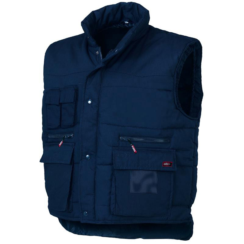 Gilet Multitasche Poly/Cotone  -  Blu Issa 04031