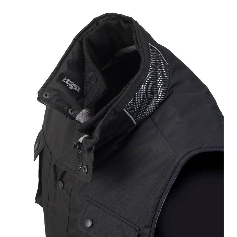 Gilet Pepper In Tessuto Ribstop Interno Pile - Nero Issa 04002