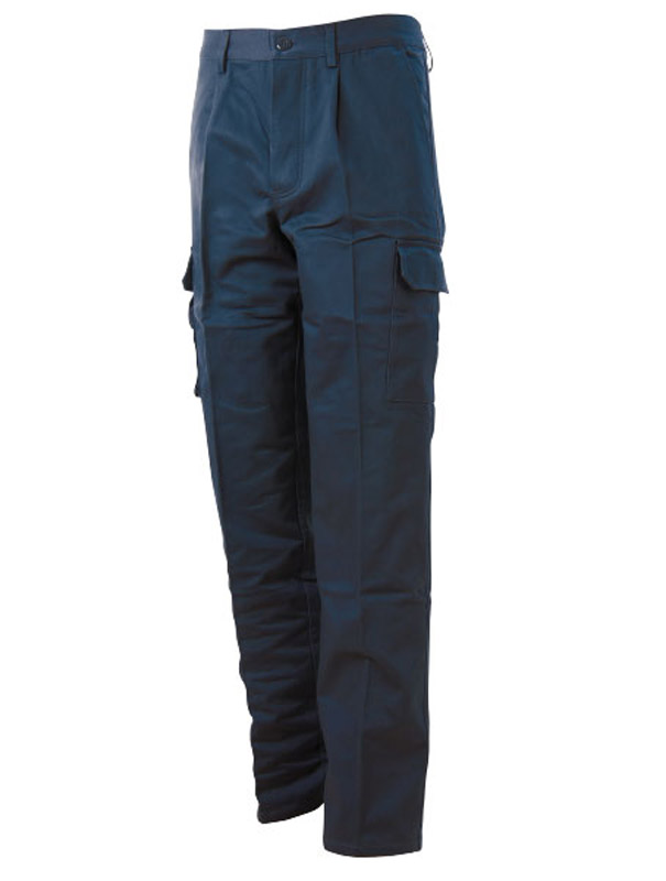Pantalone Cotone Felpato Multitasche Blue-Tech 570