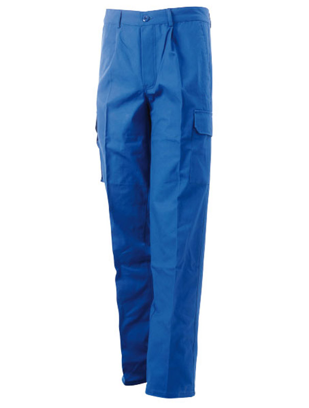 Pantalone Estivo Cotone Canvas Multitasche Blue-Tech 585
