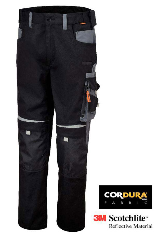 PANTALONI WORK CANVAS BLACK BETA 7820 INSERTI IN CORDURA E REFLEX SCOTCHLITE