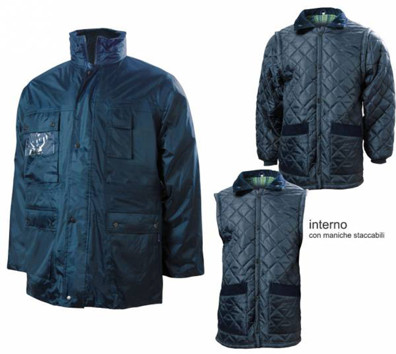 Parka Staccabile Super Nylon Blu Blue-Tech 210