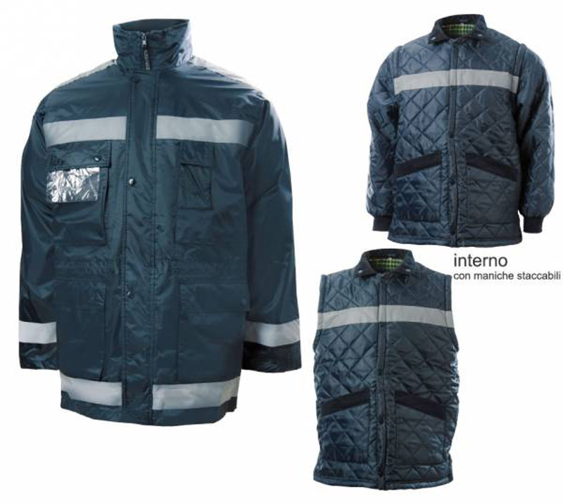 Parka Staccabile Super Reflex Nylon Blu Blue-Tech 180