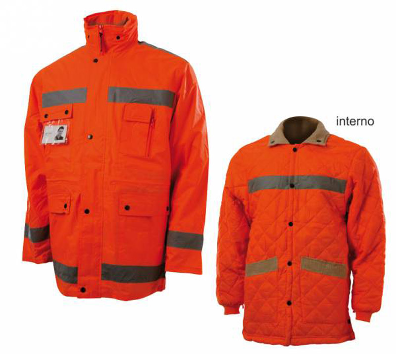 Parka Staccabile Nylon Arancio Blue-Tech 220