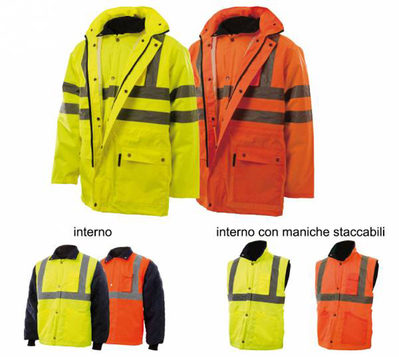 Parka Staccabile Oxford Arancio, Giallo Blue-Tech 260
