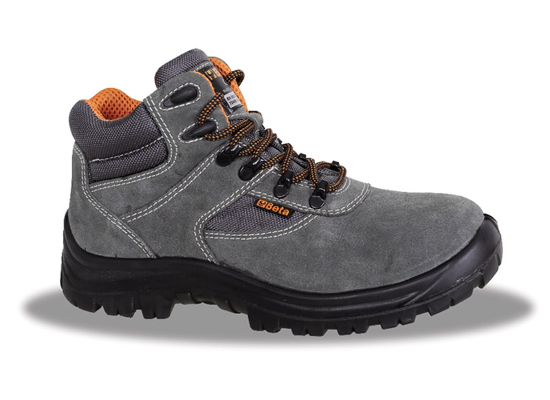 Scarpe Basic Beta Scamosciate Alte S1P Grey Art 7249G 072490135