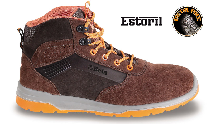 Sneakers Beta Estoril Alte Scam.S3 Brown Art 7323M 073230335