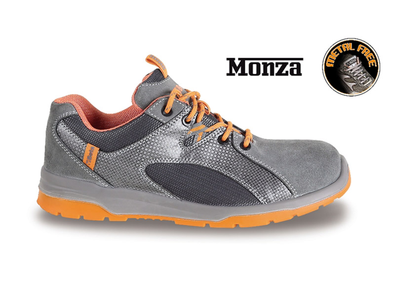 Sneakers Beta Monza Pelle/Mesh S1P Grey Art 7313G 073130635