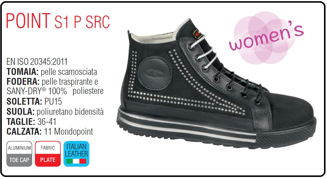Scarpe antinfortunistiche cofra point scheda - BESTSAFETY
